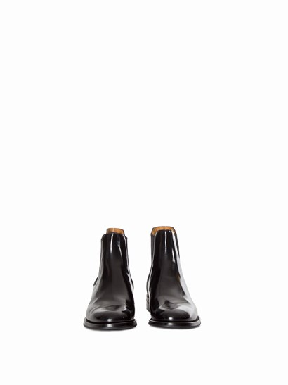 """Black brushed leather ankle boots with side elastic bands, leather and rubber sole. - Church's - """"Monmouth"""" BOOT"""