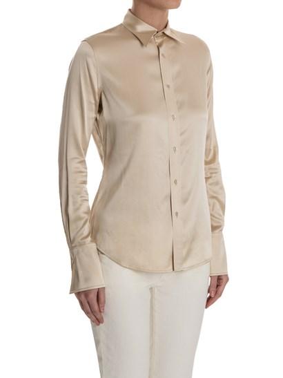 Beige silk shirt, buttons closure on the front. - Ralph Lauren - Silk shirt