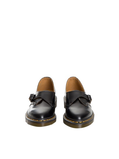 Black leather shoes with buckle detail, rubber sole. - Dr. Martens - Agnes leather shoes