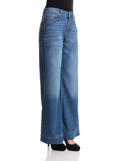 Light blue 5 pockets  wide leg jeans, medium stone wash, metal details, zip and button closure. - ZADIG&VOLTAIRE - Palazzo jeans