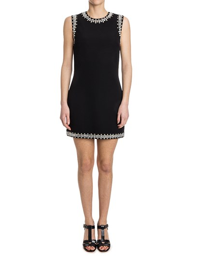 Wool dress Colour: black Rhinestones insert Rear zip closure - Givenchy - Sleeveless dress