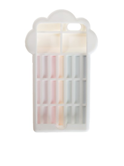 Silicone Cover Color: multicolor Logo detail  - Stella McCartney - iPhone 6/6s Rainbow cover