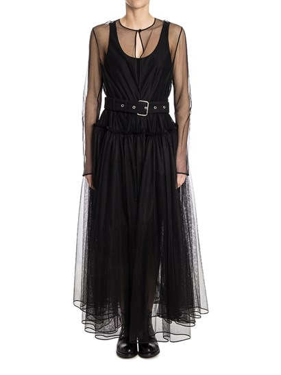 Tulle overcoat Colour: black Side pockets Adjustable belt included - Givenchy - Tulle Overcoat