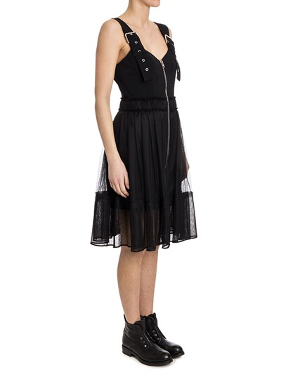 Dress Colour: black  Tulle skirt with pleated bottom Adjustable straps Front zip closure - Givenchy - Dress