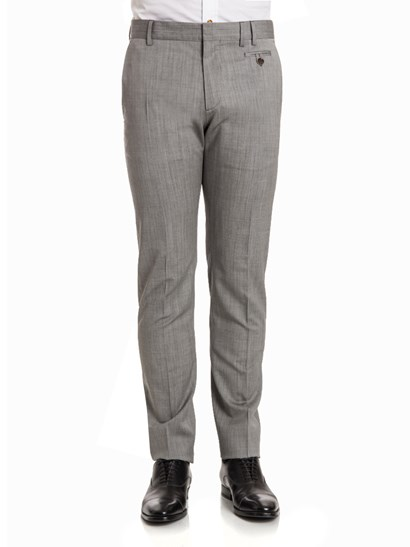 Cool wool trousers Color: grey Side slit pockets Rear welt pocket on the back Front button pocket  Zipper, hook and button closure - Vivienne Westwood  - Trousers