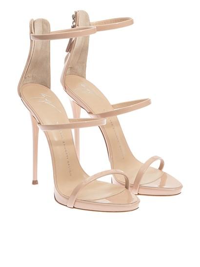 Patent leather sandals Color: powder Rear zip  Leather sole - Giuseppe Zanotti - Coline sandals