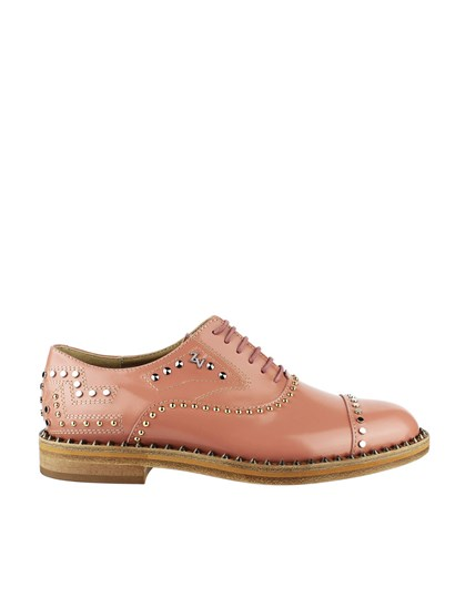 Oxford leather shoes Colour: powder pink Metal studs inserts Leather sole - ZADIG&VOLTAIRE - Oxford shoes