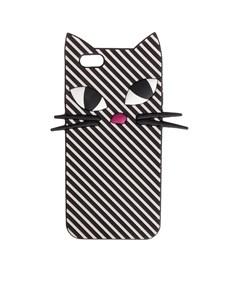 LULU GUINNESS - Stripe Kooky Cat iPhone 6 case