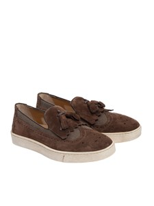 Santoni - Suede and fabric shoes