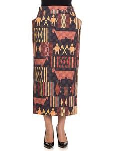 Stella Jean - Cotton blend skirt