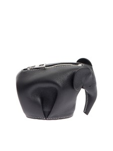 LOEWE - Hammered leather coin purse