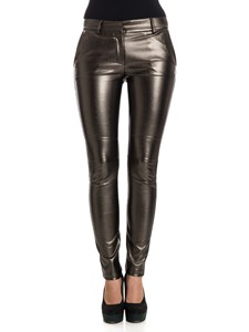 Kangra Cashmere - Eco-leather trousers