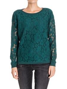 MY TWIN Twinset - Macramè lace sweatshirt