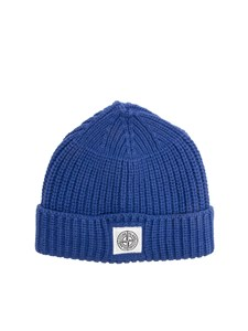 STONE ISLAND JUNIOR - Cotton hat