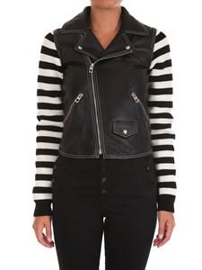 LOEWE - Leather biker jacket