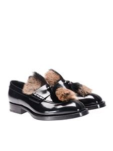 Prada - Brushed leather moccasins