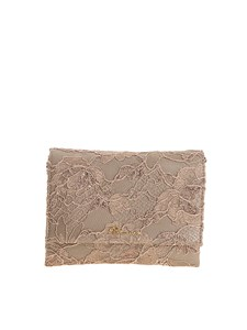 Blumarine - Leather and lace clutch