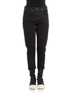 RICK OWENS DRKSHDW  - Stretch cotton jeans