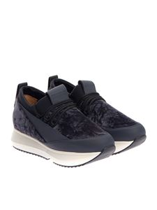 Alexander Smith - Leather and velvet sneakers