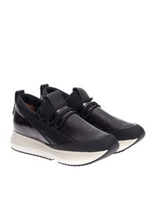 Alexander Smith - Leather and patent leather sneakers