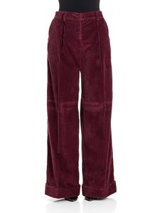 Parosh - Velvet trousers