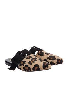 VIRREINA 1958 - Calf hair mule shoes