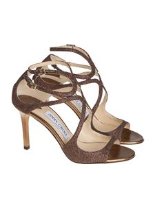 Jimmy Choo - Laminated leather sandals