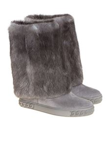 Casadei - Suede and fur boots