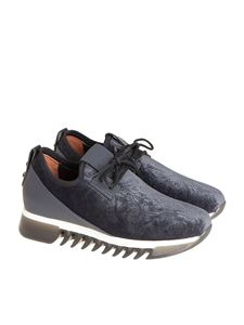 Alexander Smith - Leather and fabric sneakers