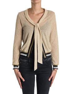 PATRIZIA PEPE - Wool blend and lurex cardigan