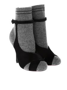Fendi - Velvet and wool ankle boots