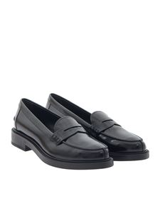 Tod's - Brushed leather loafers