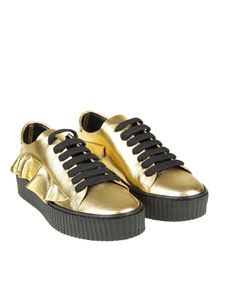Pinko - Laminated leather sneakers