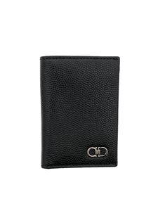Salvatore Ferragamo - Hammered leather card holder