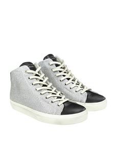 Leather Crown - Fabric and leather sneakers